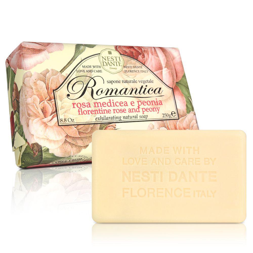 Nesti Dante Romantica Rosa Medicea & Peonia Мыло Флорентийская роза и Пион 250г