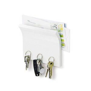 Вешалка для ключей и полка для списка Magnetter белый