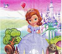 Салфетки бумажные 20 штук Принцесса София