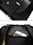 Рюкзак-сумка міський жіночий білий, фото 7