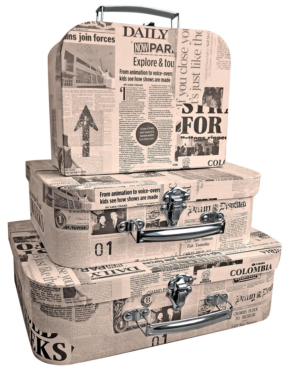 """Коробки подарочные """"Чемодан"""" на защелке, набор из 3 шт"""