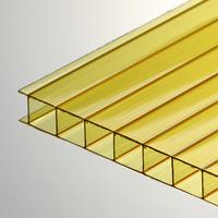 Поликарбонат сотовый 8 мм желтый Oscar Чехия