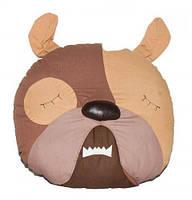 ПРОСТАР Подушка-сплюшка животное хлопок Собака №3 ПРО-34 (коричневая)