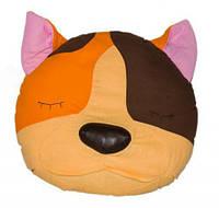 ПРОСТАР Подушка-сплюшка животное хлопок Кот №10 ПРО-32 (оранжевый)