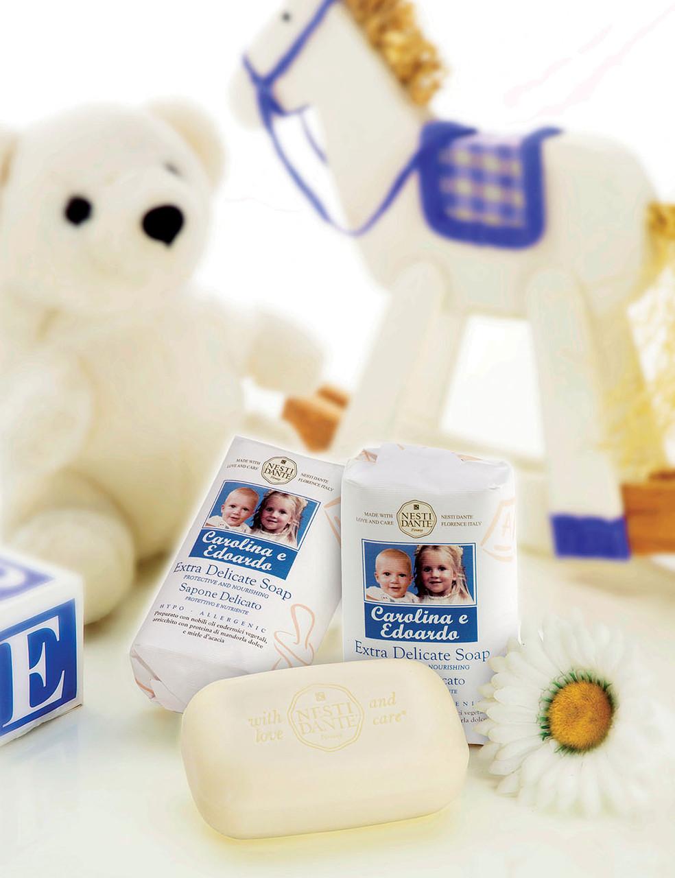 Мыло детское Nesti Dante Carolina e Edoardo Каролина и Эдуардо 250г. Для новорожденных.