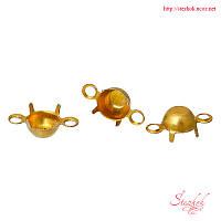 Основы для кабошонов коннектор 8х4мм золото для рукоделия