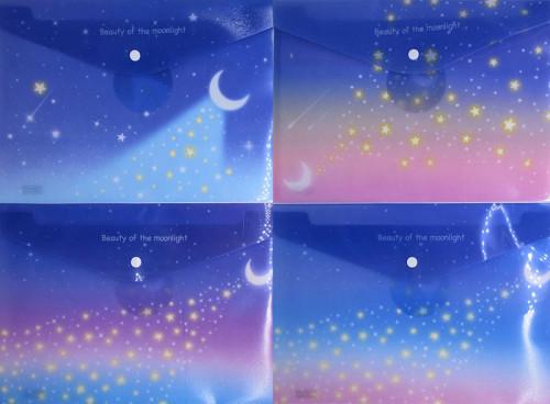 """Папка-кнопка А4+_18мкм """"Небо ночное""""23,5*33см,4вида"""