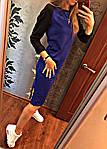 """Женское платье """"рыбка"""", французский трикотаж, р-р универсальный 42-46 (электрик), фото 3"""