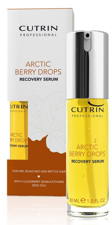 Сироватка для відновлення пошкодженого волосся Cutrin Arctic Berry Drops Recovery, 30 мл