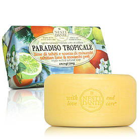 Nesti Dante Paradiso Tropicale Мыло Таитянский лайм и цедра Мосамби 250гTahitian Lime and Mosambi Peel