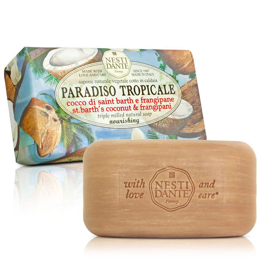 Nesti Dante Paradiso Tropicale Мыло  Кокос и Франжипан 250г Coconut and Frangipani