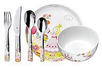 Детский набор столовых приборов и посуды Аннели на 6 персон