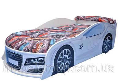 Ліжко машина Ауді біла