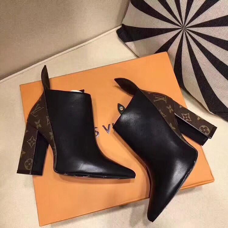 Женские комбинированные ботильоны на каблуке Louis Vuitton - Copies of  Brands. Сумки, Обувь, e27a2c26b93