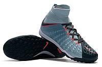Футбольные сороконожки Nike HypervenomX Proximo II DF TF Light Armory Blue/Armory Navy