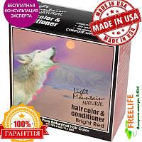 Light Mountain, Натуральная краска и кондиционер для волос, ярко-рыжий, 4 унции (113 г)