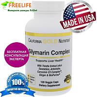 California Gold Nutrition, Силимарин, экстракт расторопши, 300 мг, 120 овощных капсул, купить, цена, отзывы