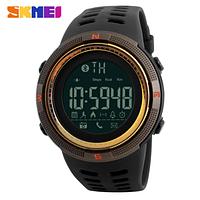Смарт часы Skmei ( bluetooth) watch 1250 (black-gold) New 2018 Гарантия!  + ВІДЕО