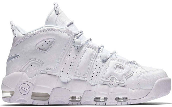 Мужские и женские кроссовки Nike Air More Uptempo White, фото 2