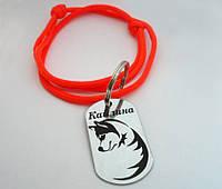 Жетон Адресник для собаки Медальон с лазерной гравировкой+регулируемый шнурок