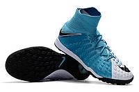Футбольные сороконожки Nike HypervenomX Proximo II DF TF White/Black/Photo Blue, фото 1