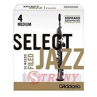 RICO RSF10SSX4M Трости сопрано саксофона Select Jazz 4 Medium