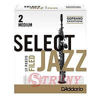 RICO RSF10SSX2M Трости сопрано саксофона Select Jazz 2 Medium