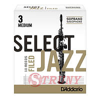 RICO RSF10SSX3M Трости сопрано саксофона Select Jazz 3 Medium