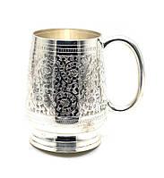 Кружка дорогая бронзовая напыление серебра