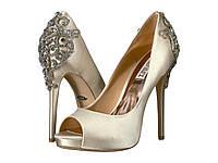 Туфли на каблуке (Оригинал) Badgley Mischka Karolina Ivory Satin, фото 1