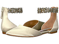 Туфли без каблука (Оригинал) Badgley Mischka Morgen Ivory Satin, фото 1