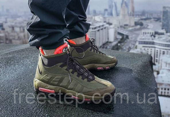 amazing price timeless design factory outlets Зимние кроссовки в стиле NIKE Air Max 95 Sneakerboot Winter хаки