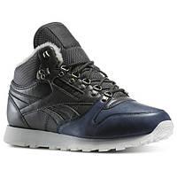 Мужские зимние кроссовки Reebok Classic Leather Sherpa (Артикул: V67030)