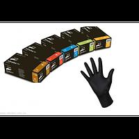 Перчатки нитриловые черные. Размер S , M, L, XL.