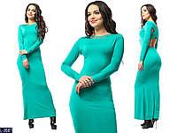 Женское платье с открытой спинкой макси