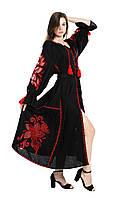 """Сукня вишита """"Диво-квітка"""" з клинами., фото 1"""