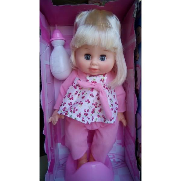 Кукла пупс функциональная с аксессуарами пьет воду писяет