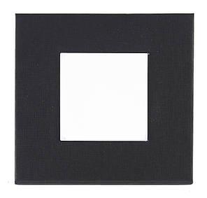 Черная подарочная картонная коробочка для наручных часов (глубокая)
