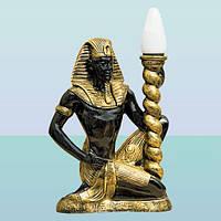 Интерьерный светильник скульптура Фараон (М). Напольный торшер для дома
