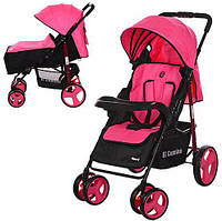 Прогулочная коляска Next M 3444-8 розовая с чехлом на ножки
