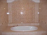 Отделка для ванной комнаты из искусственного камня.