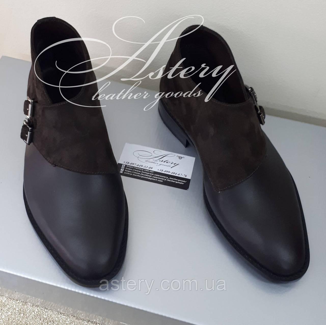 Чоловічі коричневі шкіряні черевики