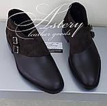 Чоловічі коричневі шкіряні черевики, фото 2