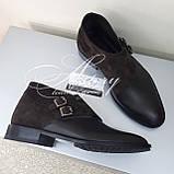 Чоловічі коричневі шкіряні черевики, фото 3