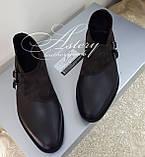Чоловічі коричневі шкіряні черевики, фото 5