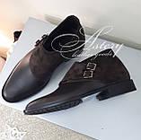 Чоловічі коричневі шкіряні черевики, фото 6