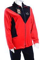 Велюровый женский спортивный костюм кленовый лист K108