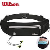 Поясная сумка для бега и занятий спортом с отделением для телефона и бутылки с водой Wilson, фото 1