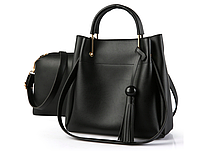Женская сумка классическая в наборе сумка через плечо с кисточкой Tiffany