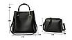 Женская сумка классическая в наборе сумка через плечо с кисточкой Tiffany Черный, фото 2